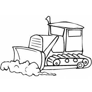 Bulldozer In Work Coloring Page Coloring Pages School Coloring Pages Coloring Pages For Kids