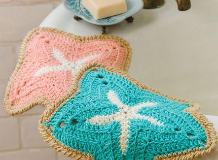 Starfish Dishcloths Free Crochet Pattern from Red Heart ...