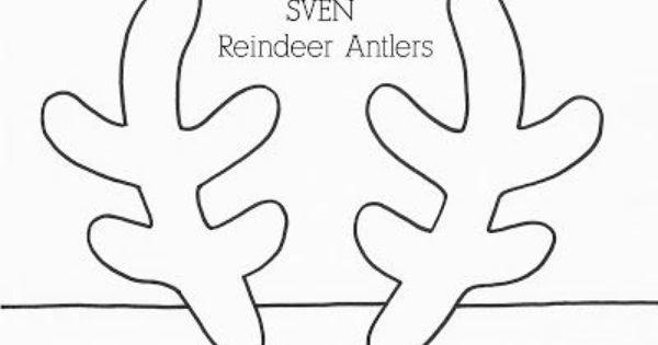 frozen elsa crown sven reindeer antler templates best