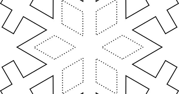 Traceable Snowflake Picture preschool