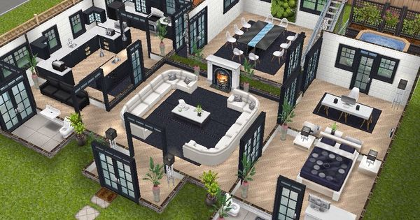 House 75 remodelled player designed house ground level for Casa de diseno sims freeplay