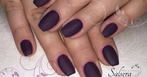 nails n gel ballerina matt plum lila bordeaux fullcover salsera nails lashes nails. Black Bedroom Furniture Sets. Home Design Ideas