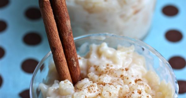 Arroz con Leche rice pudding - With sweetened condensed milk. Just made
