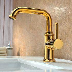Lightinthebox Two Handle Wall Mount Antique Inspired Solid Brass Bathroom Sink Faucet Lavator Bathroom Sink Taps Sink Faucets Wall Mount Faucet Bathroom Sink