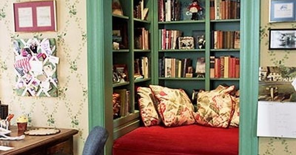 Closet turned into reading nook (although it seems far-fetched to be in