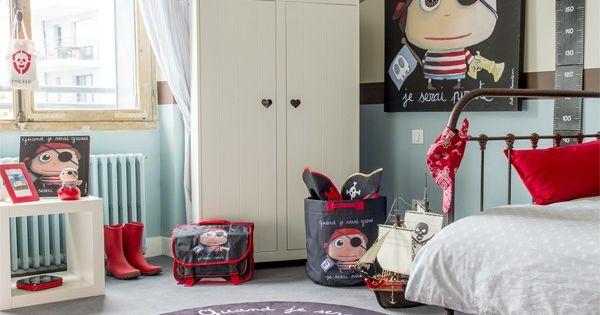 Chambre enfant gar on pirate tableau sac jouets - Tableau chambre bebe garcon ...
