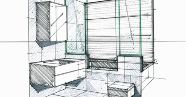 croquis d 39 une salle de bains philippe ponceblanc architecte d 39 int rieur sketches pinterest. Black Bedroom Furniture Sets. Home Design Ideas