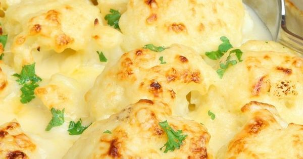 oven-roasted cauliflower with garlic, olive oil, lemon juice, parmesan ...