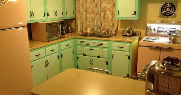 1957 Pink Vintage General Electric Refrigerator Stove