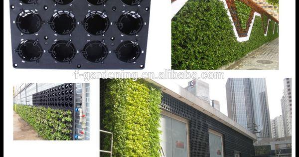 Giardino verticale parete verde pannello sl-y5012 fioriera, plstiac modulare di parete verde ...