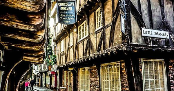 "Historic York. England. Don't you just love the street name, ""Little Shambles""."