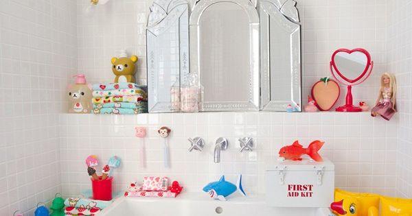 Accessoires salle de bain pour enfants canards ou poisson for Accessoires salle de bain rouge