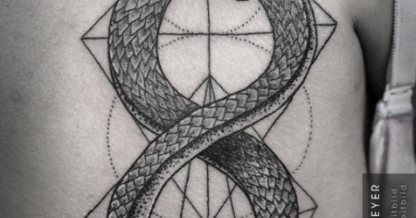 Ouroboros snake by daniel meyer via leitbild tattoos for Snake eating itself tattoo