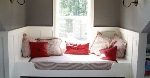 Creative ways to use a window seat - a daybed or, better