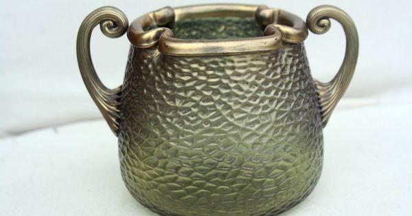 Loetz kralik ancien vase en verre irise art nouveau jugendstil vase martel - Vase ancien en verre ...