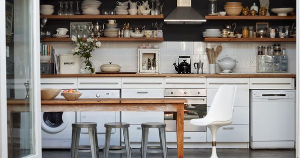 The kitchen in the home of warren matthee and rupert smith for Kitchen accessories cape town