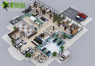 3d Hospital Floor Plan Layout Design Hospital Interior Design Hospital Design Architecture Hospital Architecture