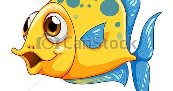 A Small Yellow Fish Csp15038779 Fish Cartoon Drawing Cartoon Sea Animals Cartoon Fish