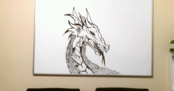 Dragon whiteboard art by sam young i like to draw for Cute whiteboard drawings