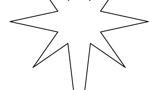 Printable Bethlehem Star Pattern. Use The Pattern For