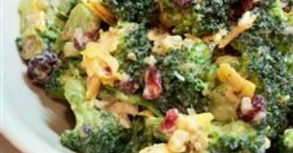 Bodacious Broccoli Salad Allrecipes.com per reviews, double the dressing and would use