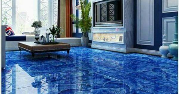 Beautiful Epoxy Flooring Amp Art Pinterest Blue Floor