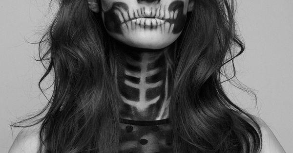 Halloween Makeup: Hauntingly Beautiful Skeleton Makeup Girl by Mademoiselle Mu - Model