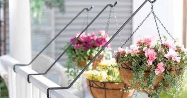 3 Piece Deck Planter Hanger Set Deck Planters Planters Balcony Plants