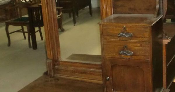 Antique Chevelle Dresser Hat Box Chest Of Drawers Mirrored