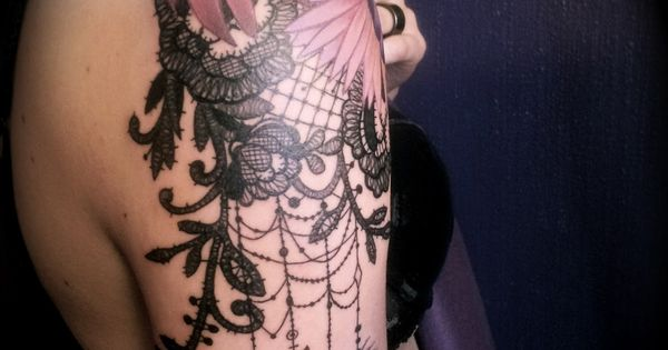 Lace tattoo... Inspiration for mine!