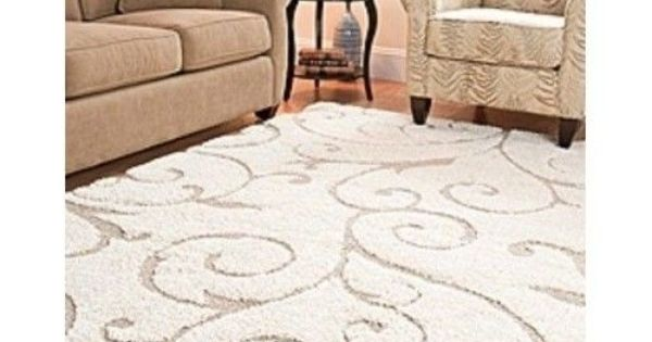 Area rug carpet 8 x 10 power loomed shag living dining for Dining room rugs 8 x 10