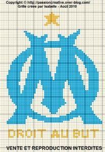 Grille Gratuite Point De Croix Om Olympique De Marseille