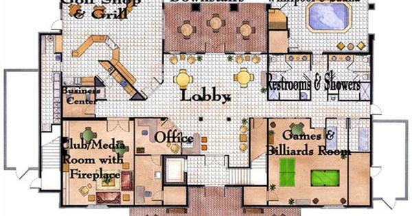 Image Result For Apartment Clubhouse Floor Plan Club House