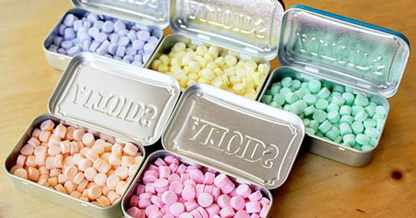 "How to Make Your Own ""Curiously Strong Mints"" {Altoids}! Any flavor you"