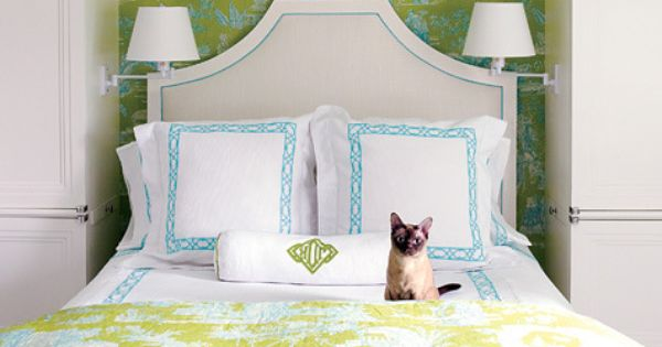 Preppy In Lime, Turquoise And Crisp White. Chinoiserie
