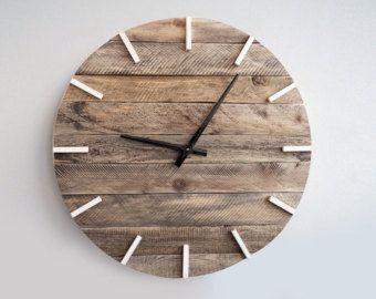 Rustic Wall Clock Large Wall Clock Weathered Wood Clock Home Decor Reclaimed Wood Decor Rustic Wall Clocks Wood Clocks Wooden Wall Hangings