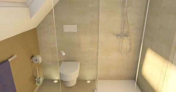 dachschr ge dusche im eck bad pinterest dachschr ge die haare und badezimmer. Black Bedroom Furniture Sets. Home Design Ideas