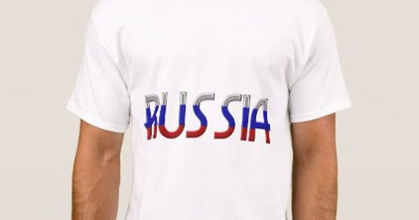 Russia Russian Flag Colors Typography Elegant T Shirt Zazzle Com T Shirt Shirts Elegant Shirt