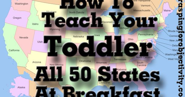 Teaching toddlers- geography