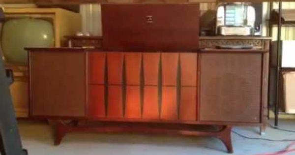 1964 Rca Victor New Vista Stereo Phonograph Am Fm Console