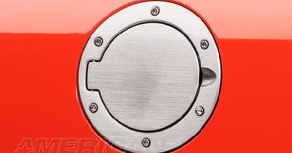 Speedform Mustang Bullitt Style Brushed Fuel Door 24021 05 09 All Stainless Steel Hinges Mustang Bullitt Billet Aluminum