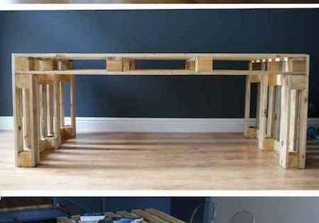 Utiliser une palette en bois pour faire une table manger - Fabriquer une table a manger en palette ...