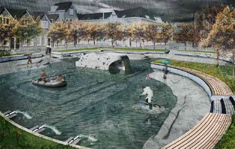 Puddle Jumping Welcome Stunning Stormwater Park Concept Webecoist Urban Landscape Design Landscape Architecture Landscape Architecture Design