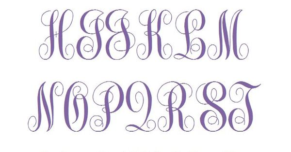Fancy curly monogram machine embroidery font fonts