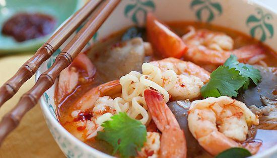 15-Minute Tom Yum Noodle Soup   Recipe   Tom yum noodle ...