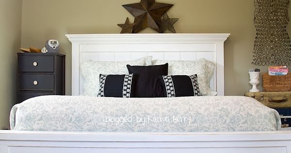 Ana White Bed with crown molding at the top