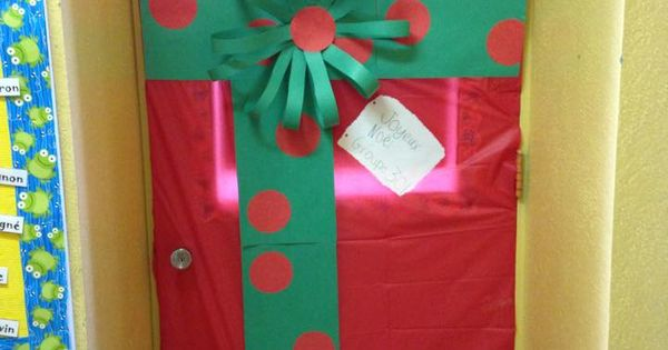 D coration porte de classe no l id es no l pinterest for Decoration porte noel ecole