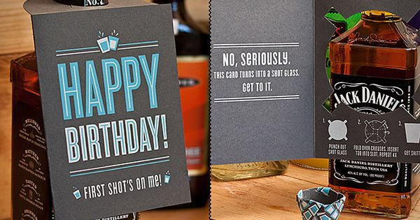 Shot Glass Card. Great Gift Idea!