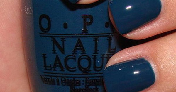 "opi ""ski teal we drop""....great fall color blue nail polish"