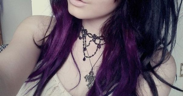 Purple Highlights in Brown Hair | black and purple hair - Hairstyles